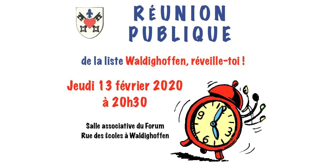 Annonce réunion publique du 13 février